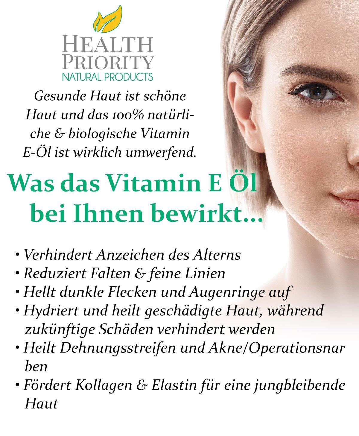 Aceite 100% natural y orgánico de vitamina E para la cara y la piel - 15,000/30,000 IU - Reduce las arrugas y aclara las manchas oscuras, dejando la piel ...