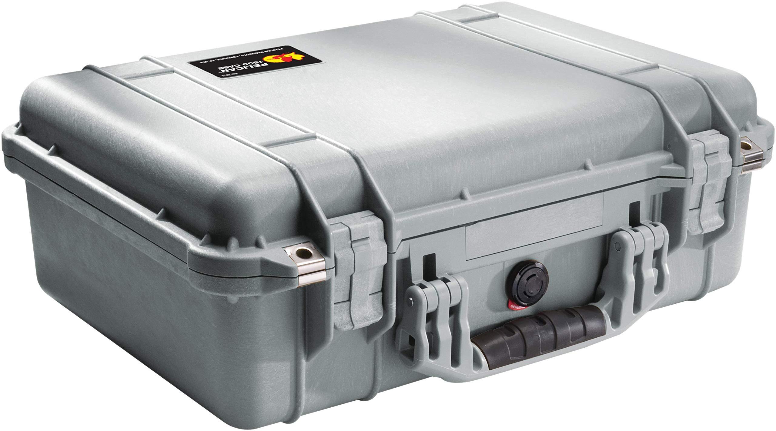 Pelican 1500 Camera Case With Foam (Silver)