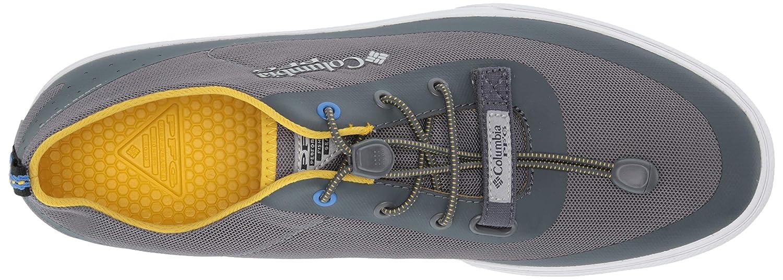 Columbia PFG Mens Dorado CVO PFG Boat Shoe Ti Grey Steel Electron Yellow 13