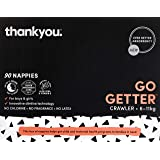 Thankyou Baby Nappies, Boys & Girls, Go Getter, Crawler 6-11kg (90 Count)