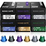 Rosso Coffee Capsules for Nespresso Original Machine - Gourmet Espresso Pods, Compatible with Nespresso Original Line Machine