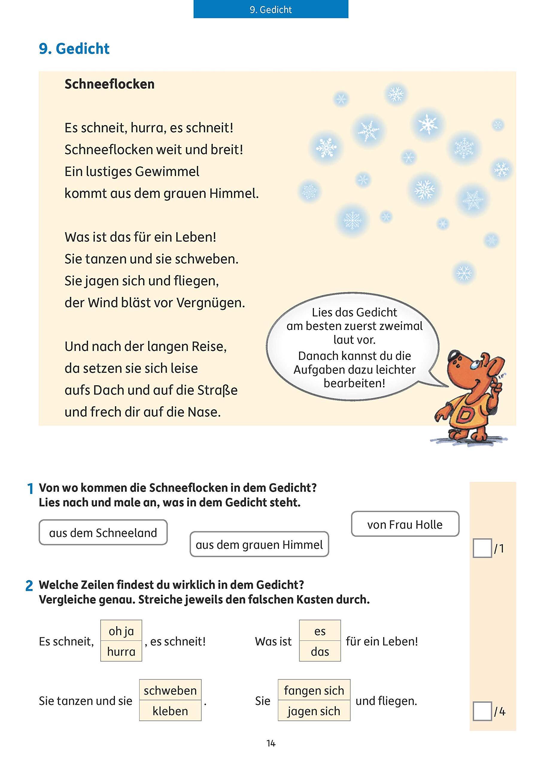 Lesetests In Deutsch Lernzielkontrollen 2 Klasse