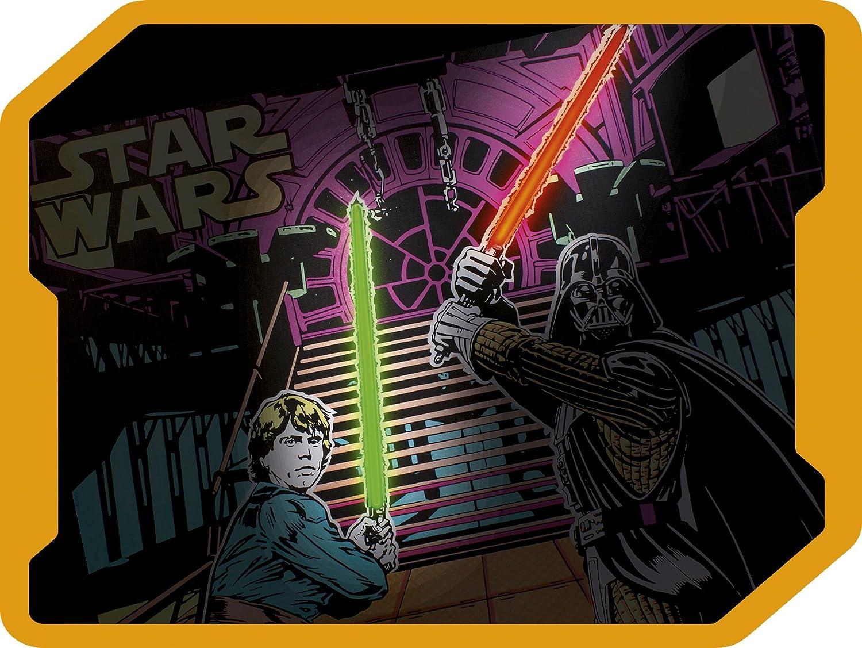 Lansay 25030 Star Wars Tableau Lumineux A Colorier Amazon Fr