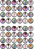 48 Doc Mcstuffins Edible PREMIUM THICKNESS SWEETENED VANILLA,Wafer Rice Paper Mini Cupcake Toppers, Cake Pops, Cookies