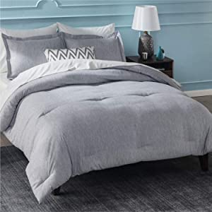 Bedsure - King Size 3 Piece Comforter Set (102x90 inches) - Soft Down Alternative Brushed Cationic Dyeing Duvet Insert with Pillow Sham - Lightweight Bedding Set