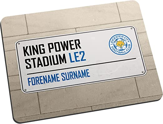 Official Licensed Leicester City FC Street Sign Mouse Mat