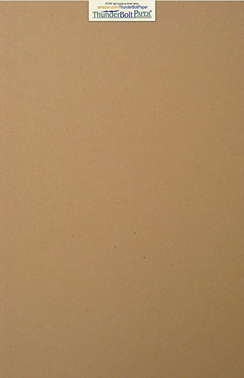 Photo|Card|Frame Size 3 X 5 Rich Earthy Color with Natural Fibers 80lb//Pound Cardstock 100 Brown Kraft Fiber 80# Cover Paper Sheets Smooth Finish 3X5 Inches