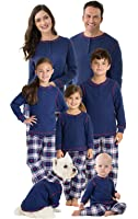 PajamaGram Snowfall Plaid Matching Family Pajama Set, Blue