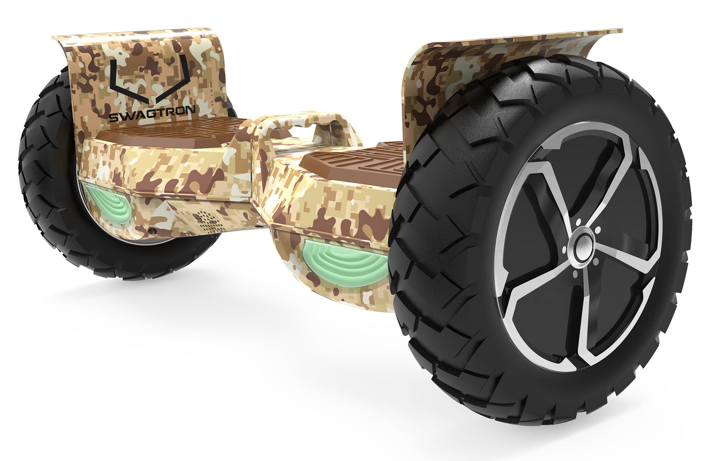Swagtron Swagboard Outlaw T6 Off-Road Hoverboard - First in The World to Handle Over 380 LBS, Up to 12 MPH, UL2272 Certified, 10'' Wheel by Swagtron