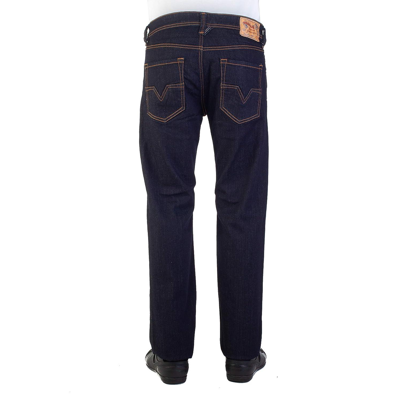 bd71e472 Diesel Mens Larkee Relaxed Regular Straight Jeans in Dark Denim: Diesel:  Amazon.co.uk: Clothing