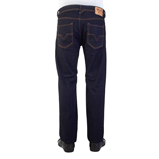 bd71e472 Diesel Mens Larkee Relaxed Regular Straight Jeans in Dark Denim: Diesel:  Amazon.co.uk: Clothing