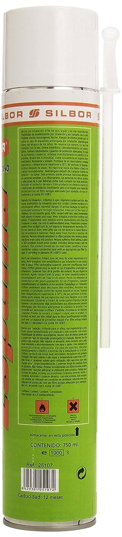 Mundigangas - Espuma spray 750ml Poliuretano Silbor con canu
