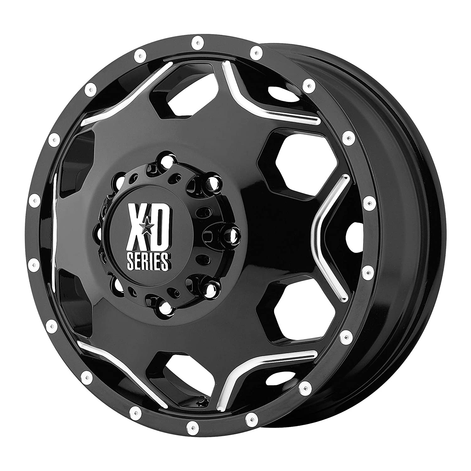 XD SERIES BY KMC WHEELS CRUX DUALLY GLOSS BLACK W//MILLED ACCENTS CRUX 17x6 8x200.00 DUALLY GLOSS BLACK W//MILLED ACCENTS rims -134 mm