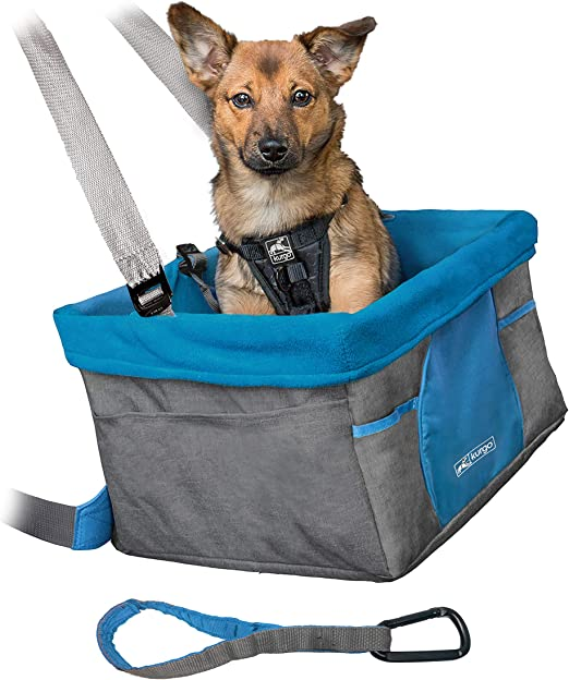 Kurgo Skybox Sitzerhöhung Auto Für Hunde Haustiere Hunde Autositz Inkl Hunde Anschnallgurt Auto Farbe Heather Charcoal Haustier