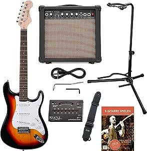 Rocktile Sunburst - Set de guitarra el?ctrica, color blanco y ...