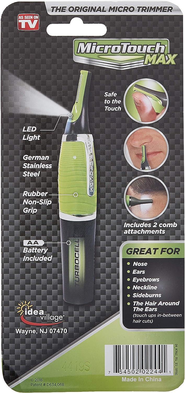 Micro Touch MAX regolatore dei capelli, Verde: Amazon.es: Salud y ...