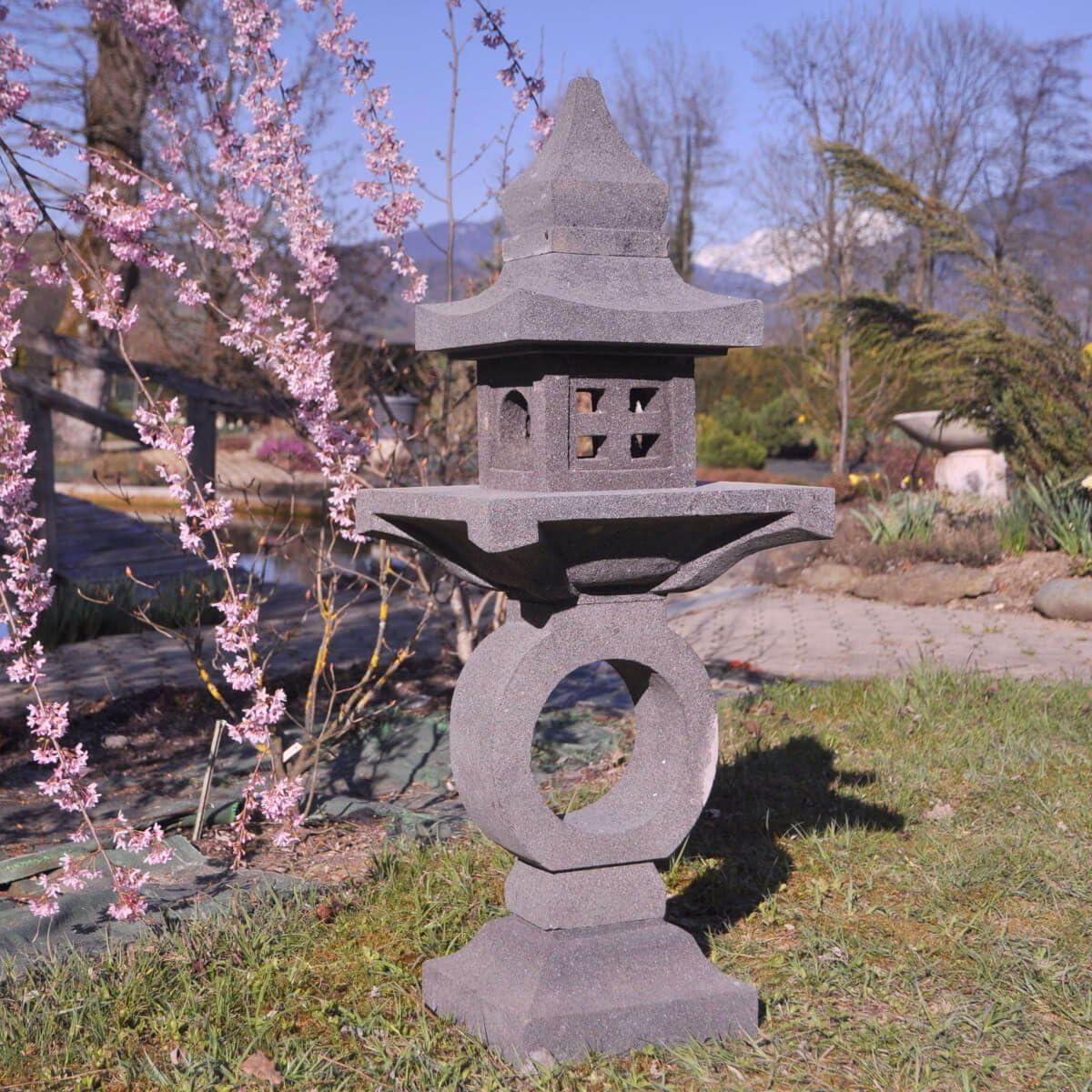 wanda collection Linterna Japonesa Pagoda Zen de Piedra de Lava 105 cm: Amazon.es: Hogar