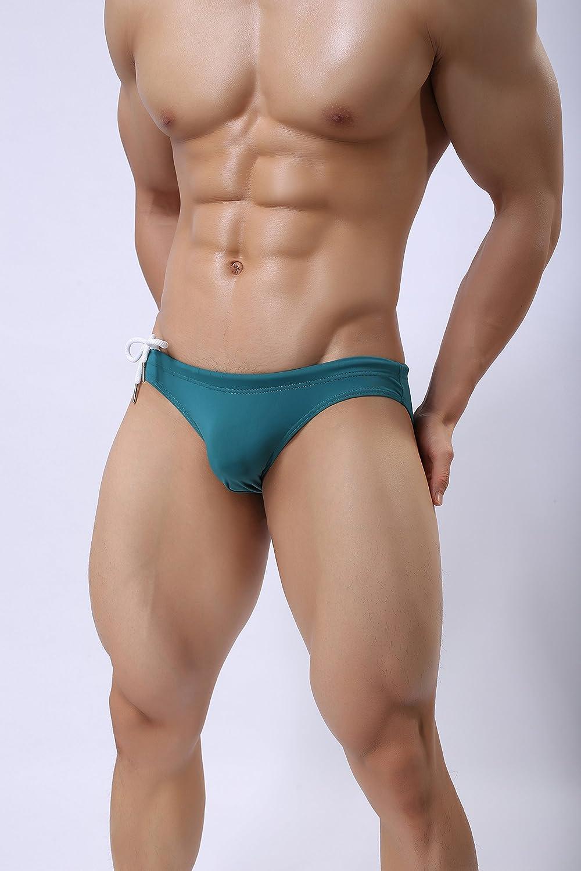 75c81e98e681f BRAVE PERSON Mens Fashion Low-Rise Swimming Briefs Pure Color Bikini  Swimwear 1156 B1156