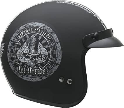 12ef0b40 Amazon.com: Vega Helmets Unisex-Adult Open Face Motorcycle Helmet (Let it  ride Graphic, Large): Automotive