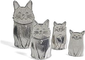 Roosfoos Pewter Cat Measuring Spoons