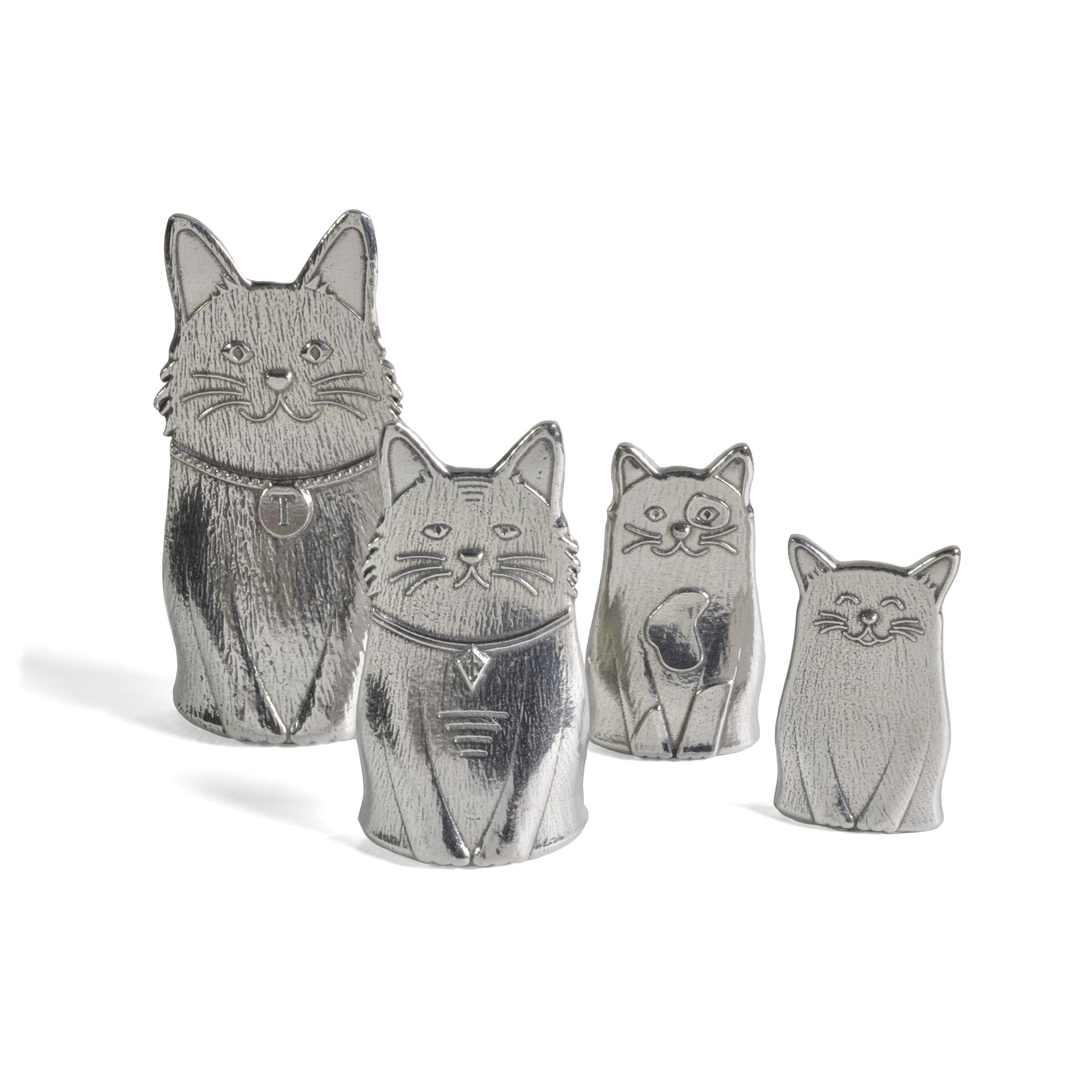 Roosfoos Pewter Cat Measuring Spoons by Roosfoos
