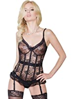 Floral Stretch Lace Corsellete