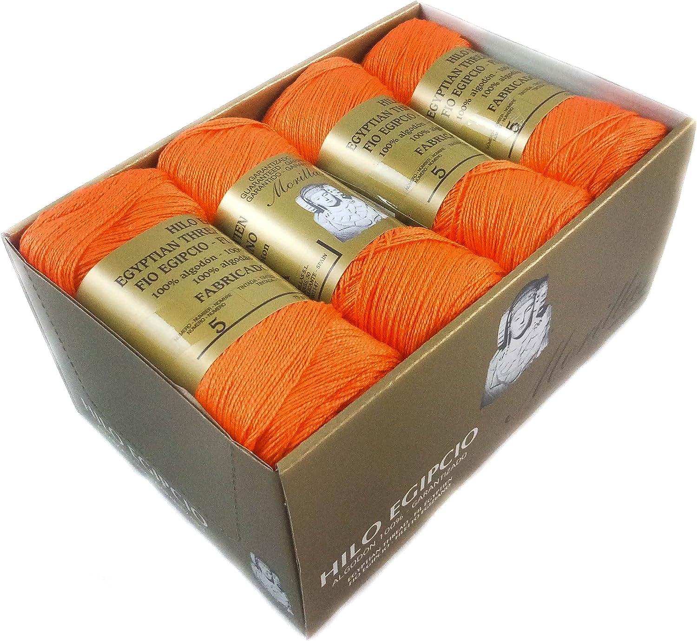 ▷ Pack de 8 Zepelines Ne 5/2 Color Caldera 35 de Algodón perlé 100% egipcio mercerizado para DIY y tejer a mano labores de ganchillo o punto con un acabado elegante. (75gr.*8unidades)