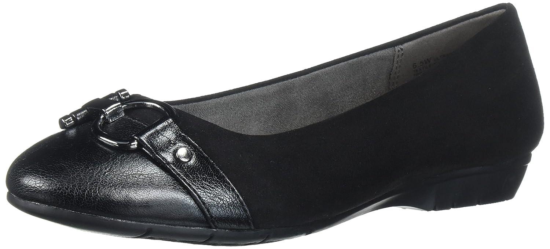 Aerosoles A2 by Women's Ultrabrite Ballet Flat B0106Q4W74 9.5 B(M) US Black Fabric
