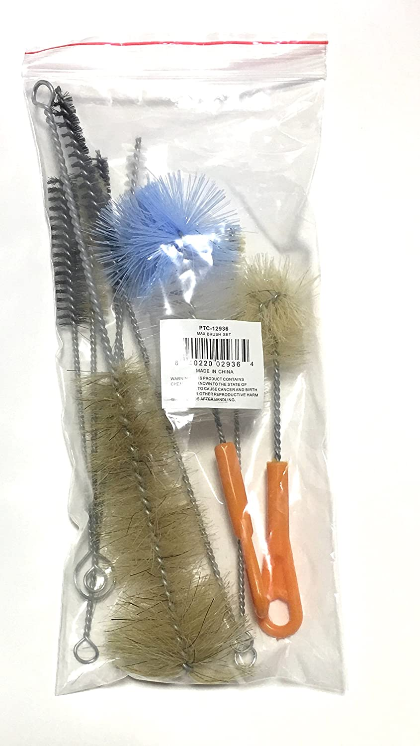 Ultimate Bottle & Tube Brush Cleaning Set 9 Sizes & Shapes - Natural & Synthetic Bristles By ProTool Prosperity Tool 12936