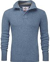 Charles Wilson Heritage Range Men's Button Neck Premium Wool Blend Jumper