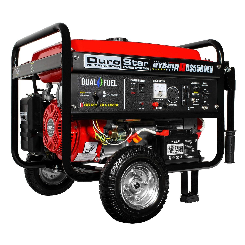 DuroStar DS5500EH Portable Generator, Red Black