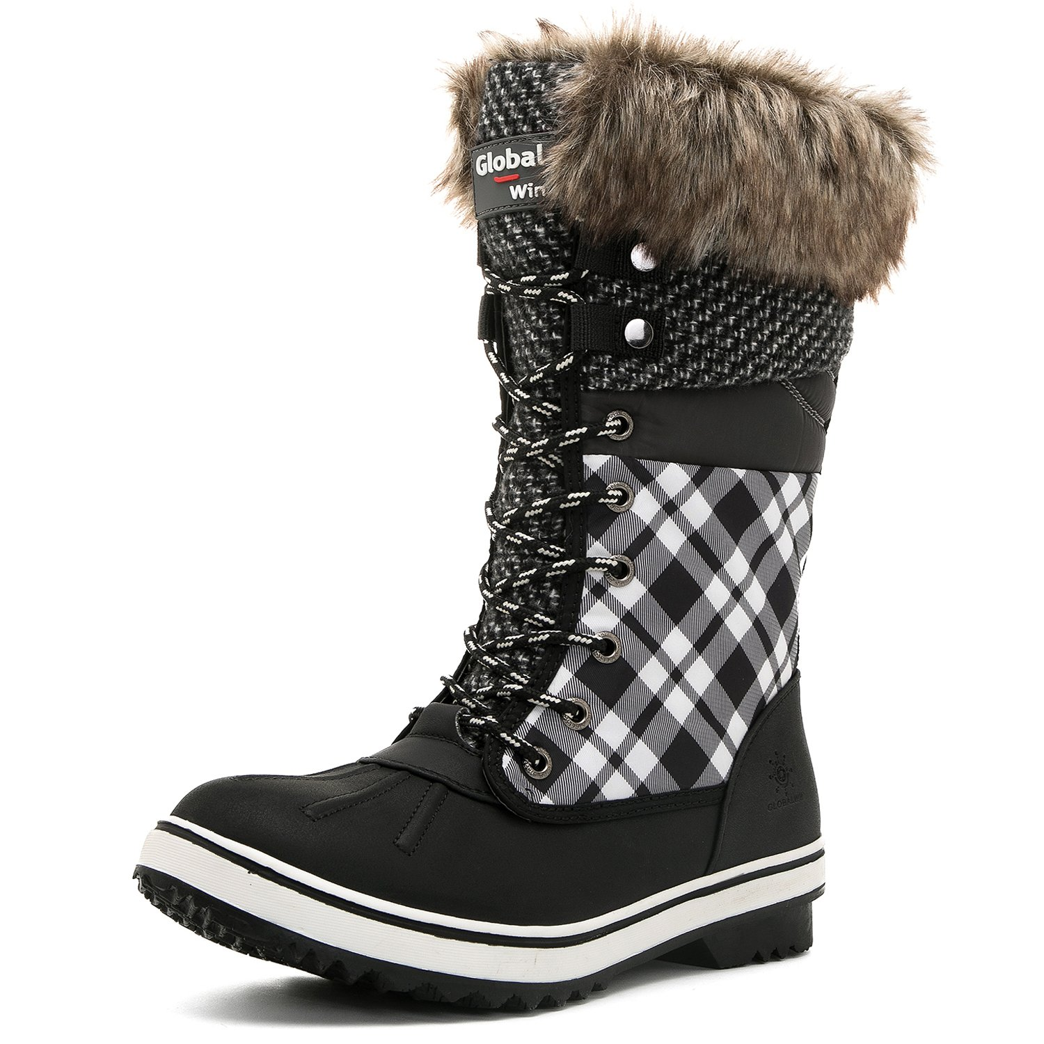 Global Win GLOBALWIN 10(M) Women's 1730 Winter Snow Boots B075DCCW2M 10(M) GLOBALWIN US Women's|1733black/White b3acd9
