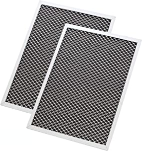OrdLive 2 Pcs Range Hood Filter 8-3/4 x 10-1/2 x 3/8 Inch, Aluminum Charcoal Combo Compatible with Broan, Kenmore, Maytag, Replace for 1172266, 41F, 5-3082, 51113711 Replacement Aluminum Grease Filter
