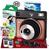 Fujifilm instax Square SQ6 Instant Film Camera (Blush Gold) + 20 Sheets Instant Square Film + Xpix Camera Strap…