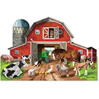 Deals on Melissa & Doug Busy Barnyard-Shaped Floor Puzzle 2923