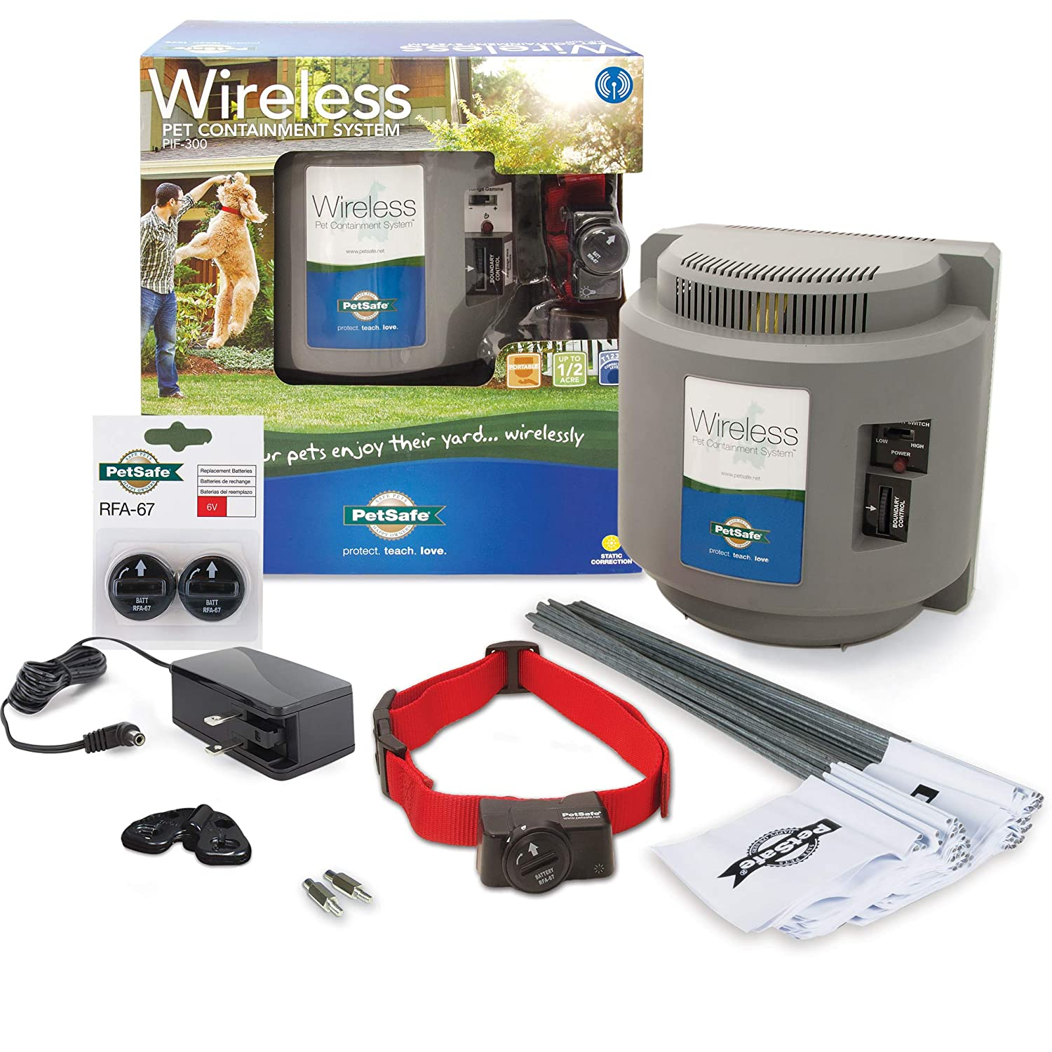 Above Ground Electric Pet Fence PetSafe Wireless Dog and Cat Containment System from the Parent Company of INVISIBLE FENCE Brand