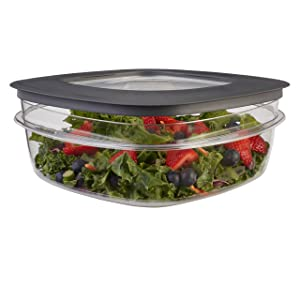 Rubbermaid Premier Easy Find Lids Food Storage Containers, 9 Cup, Gray 1934582