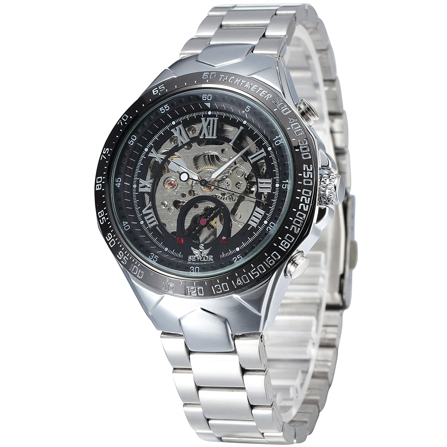 BuyTerest ALPSメンズスケルトン自動Self Winding Mechanical Watch B01B5S2L5C
