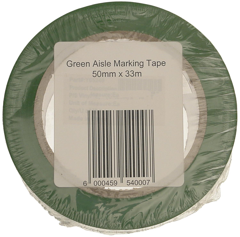 Signs & Labels FBLW6 - Nastro adesivo per segnaletica orizzontale, 50 mm x 33 m, colore: Verde