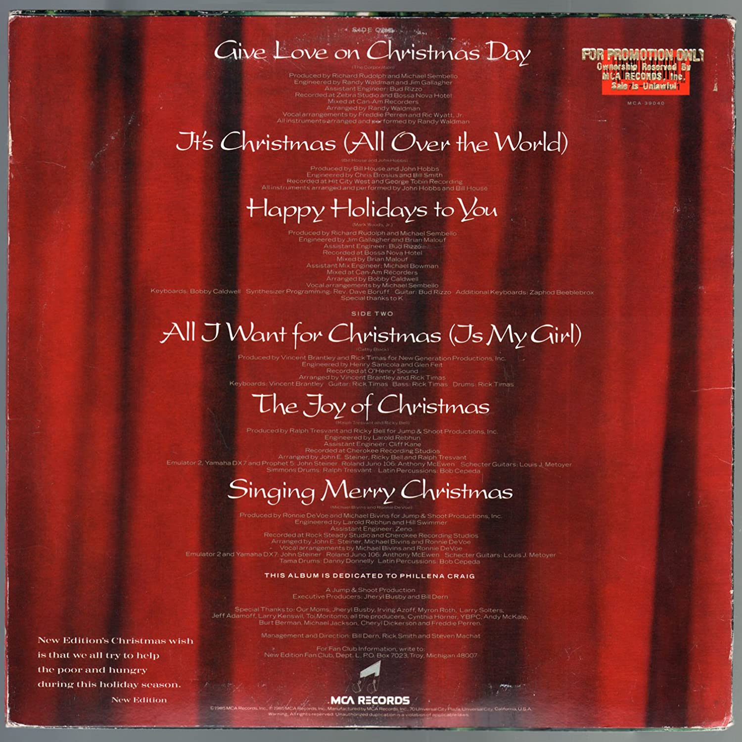 new edition new edition christmas all over the world lp vinyl record 1808 amazoncom music - Christmas All Over The World