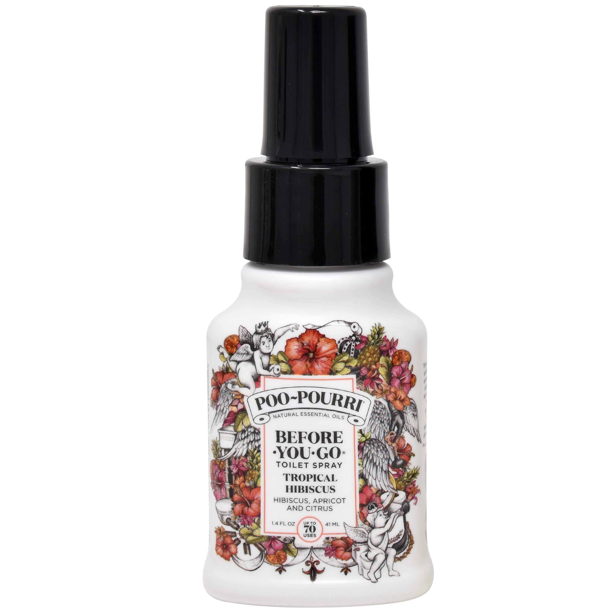 Poo-Pourri Vanilla Mint 4 Ounce, Tropical Hibiscus 1.4 Ounce and Original Citrus 1.4 Ounce by Poo-Pourri (Image #3)