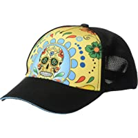 Headsweats Performance Trucker Hat, Fiesta Sugar Skull, One Size