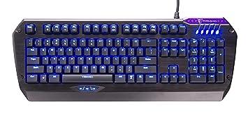 Tesoro Colada Evil TS-G3NL (B) BW Brown Cherry MX Switch USB Hub Blue LED  Backlit Illuminated Aluminum Gaming Mechanical Keyboard
