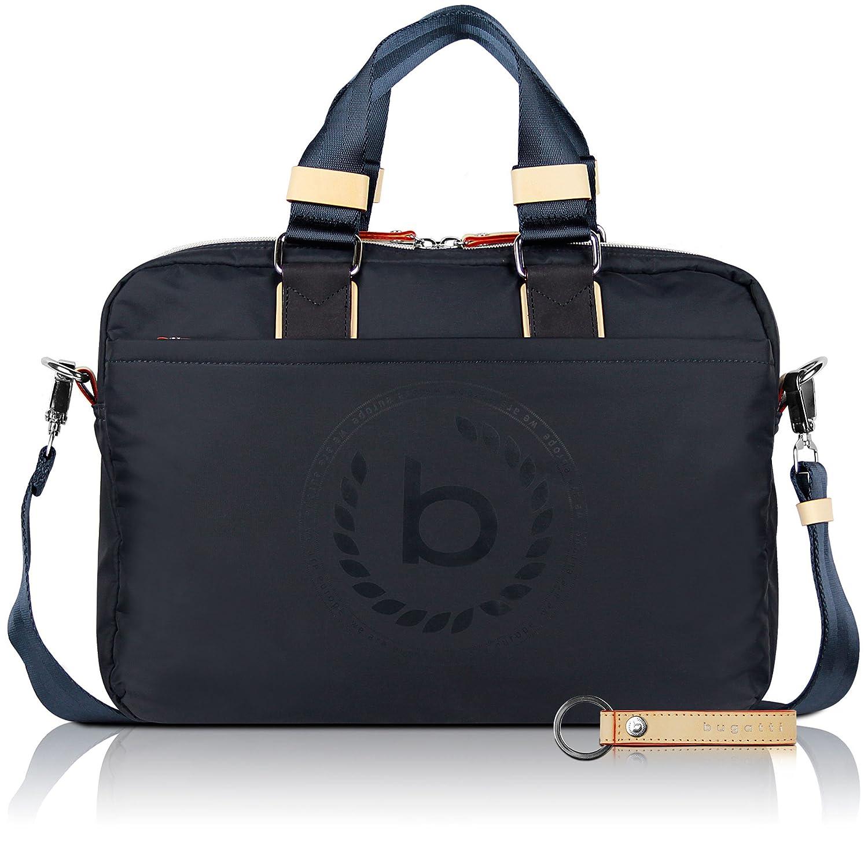 bugatti Ladies Lido, borsa portadocumenti da donna con scomparto RFID, blu scuro + portachiavi