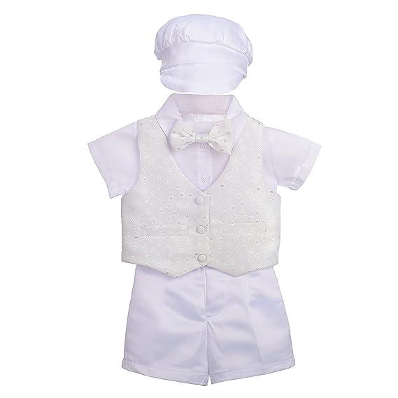19833779470 Lito Angels - Costume de baptême - Bébé (garçon) 0 à 24 Mois Ivoire ...
