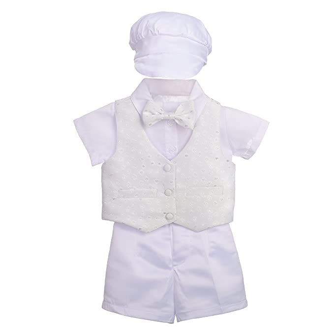 Lito Angels - Ropa de Bautizo - para bebé niño Blanco Blanco 9 Mes