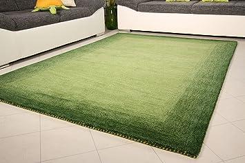 Teppich 160x230  Gabbeh Teppich Mansiri - Handarbeit aus 100% Schurwolle - grün ...