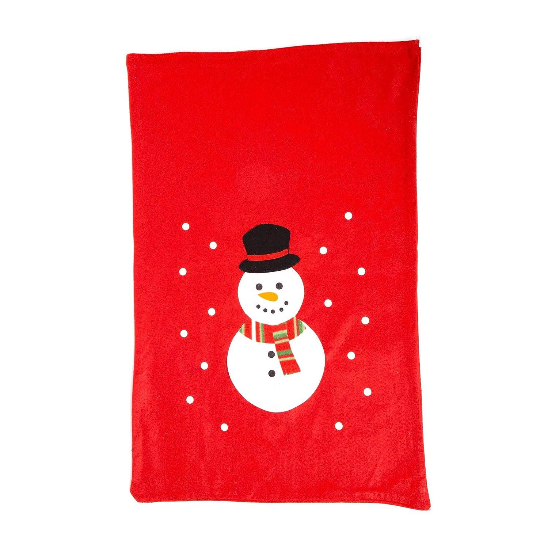 Jumbo Felt Red Christmas Sacks (Snowman) Robelli