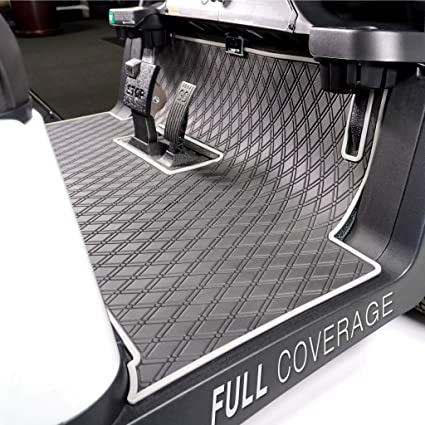 AmazonSmile : Xtreme Mats Club Car Full Coverage Golf Cart Floor Liner Mat W/Color Options- Fits 2 and 2+2 Club Car Models Precedent (2004+)/Onward & Tempo (2017-2021) - Black with Grey Trim : Sports & Outdoors