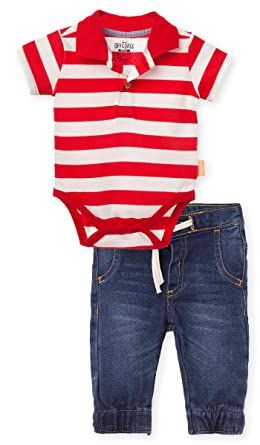 OFFCORSS Baby Boy Bodysuite Pique Striped Polo Shirt Coming Take me Home Summer Newborn Infant Outfit